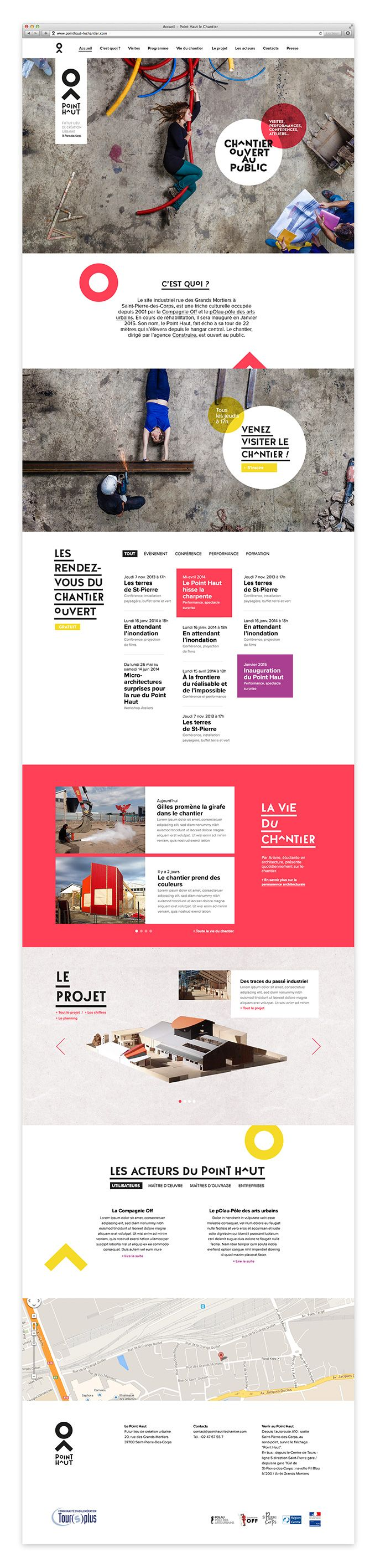 Webdesign du site du chantier ouvert du Point Haut #webdesign #design #template #website