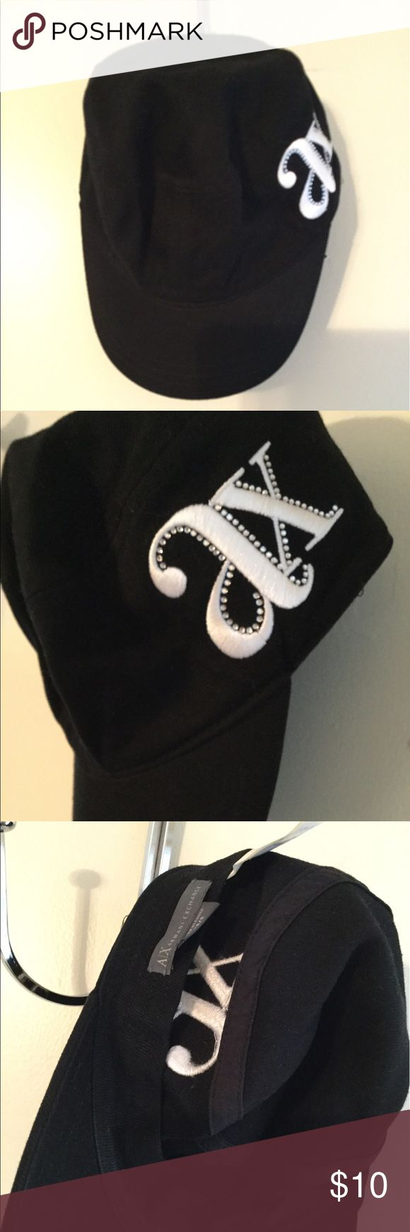 Hat Armani exchange military style hat A/X Armani Exchange Accessories Hats