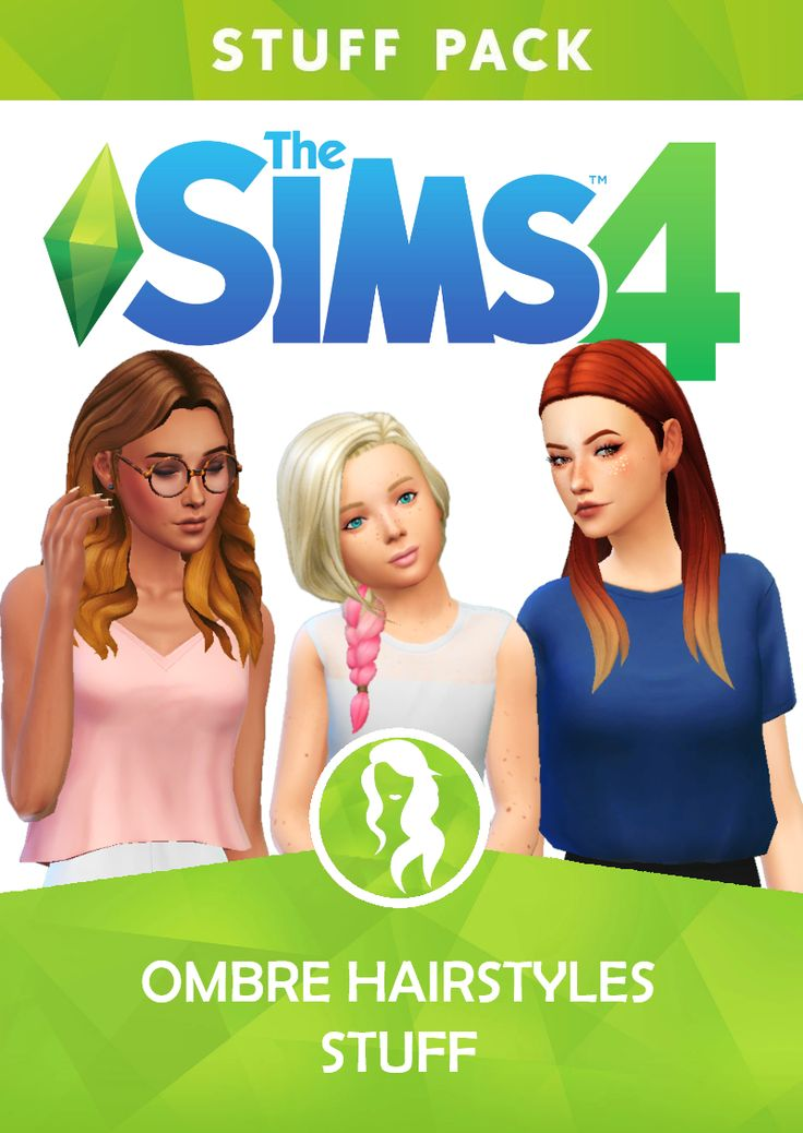 The Sims four Ombre Hairstyles Stuff