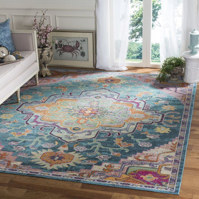 Latitude Vive Gothia Teal Rug Reviews Wayfair Co Uk Teal Rug Colorful Rugs Cool Rugs
