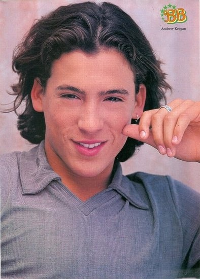Andrew Keegan. The hair, the earring, aka I would have tried to make out with this poster.