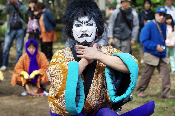 12 Akita Hachirogata town Gannin Dance Japan 2015 2015年5月5日 八郎潟町 一日市神社 大人願人踊り