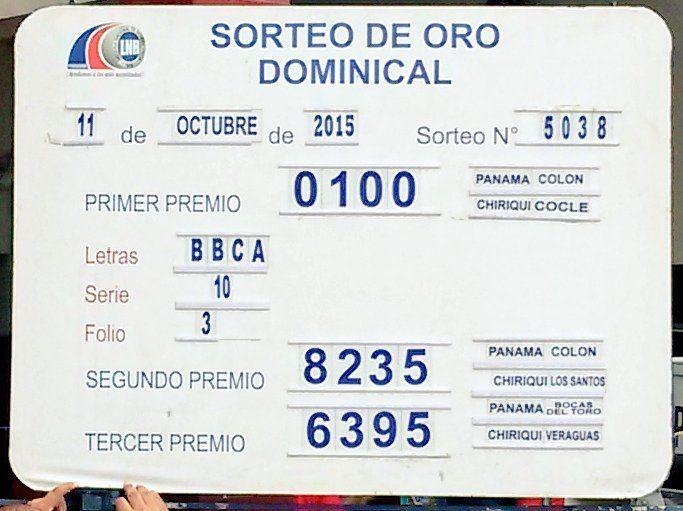 Resultados ddel Domingo 11/10/15. http://wwwelcafedeoscar.blogspot.com/2015/10/resultados-loteria-nacional-de-panama.html