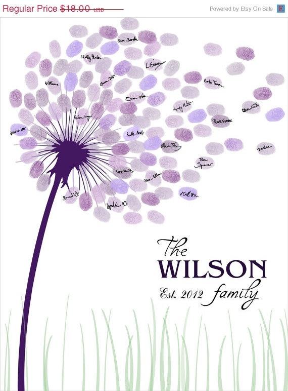 SALE DIY Wedding Guest Book / Printable PDF par CustombyBernolli, $16,20  déclinaison arbre à empreinte  Guest book