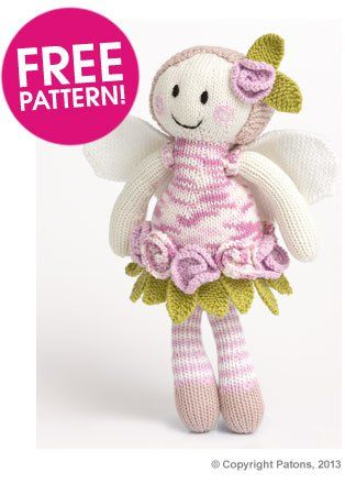Craft Passions: Rose fairy doll #free knitting pattern