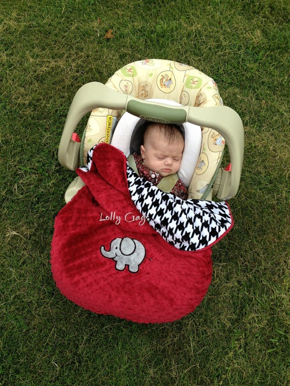 Minky Foot Muff Blanket For Infant Car Seat By