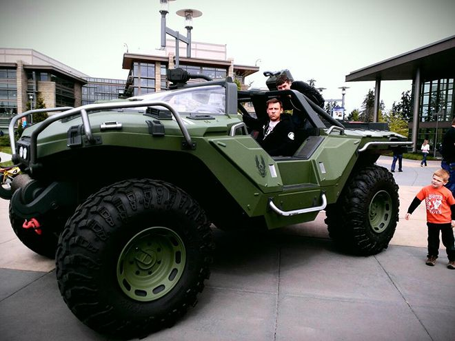 The 343i studios has a real, drive-able, HALO 4 warthog. Click for the info!