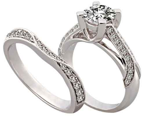 diamond unique wedding band and engagement ring sets best stone design jewelry mens solitare estate settings collection style - Wedding Ring Vs Engagement Ring