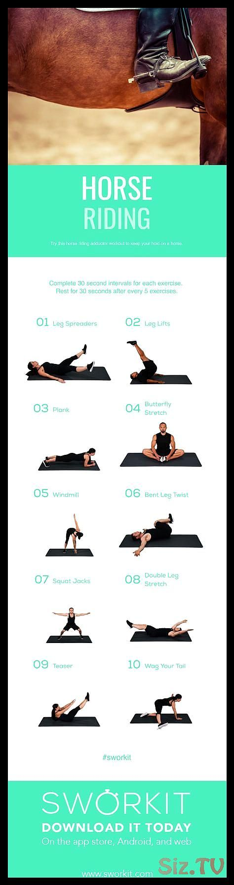 Sworkit Fitness Apps Horse Riding Conditioning Workout  Focusing on your adducto…