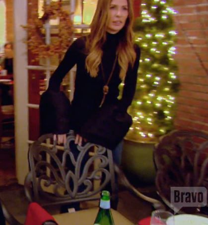Carole Radziwill's Black Bell Sleeve Knit Top by Loeli Real Housewives of New York Fashion
