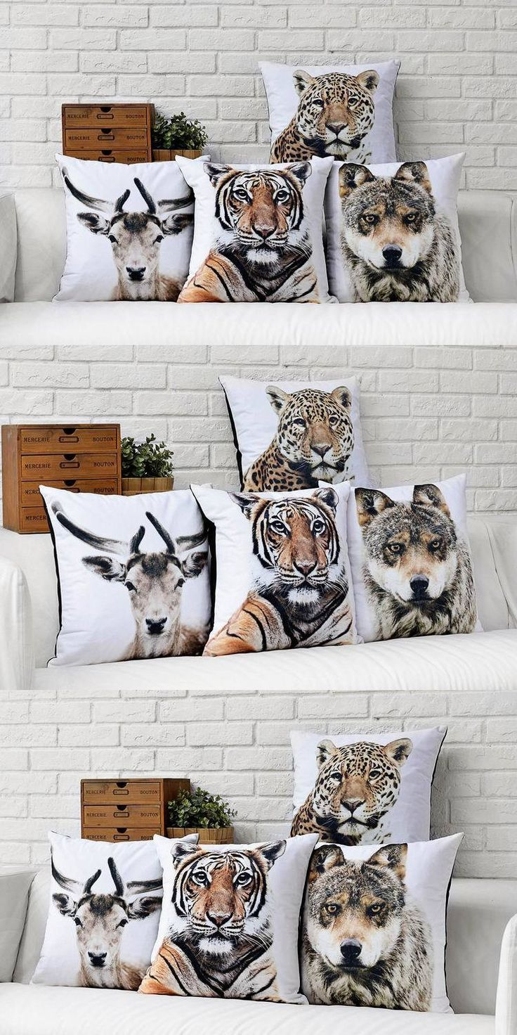On sale Scandinavian style Cushions Home Decor Animal illustration Decorative Pillows high-end fashion Home Pillow Decoration $5.55