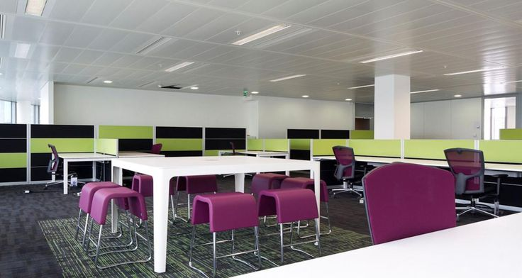 Open space into the premises of FM Global in Paris, France