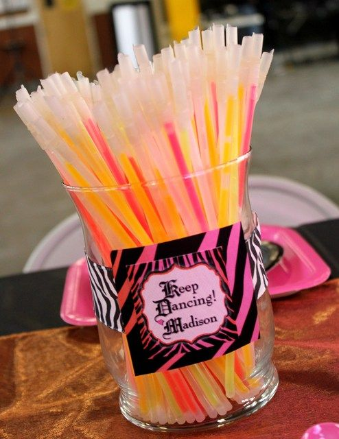 "Photo 1 of 29: Hot Pink with Zebra Print / Birthday ""Zebra Chic Dance Party"" 