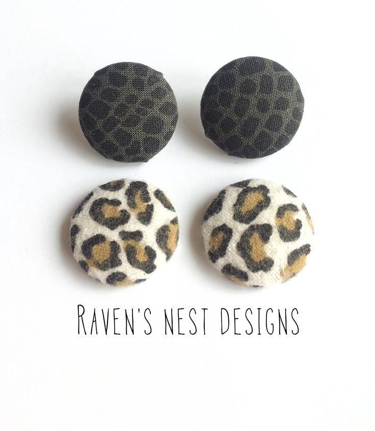 Animal Print Earrings - Set of 2
