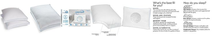 SensorGel Cool Fusion Pillows with Cooling Gel Beads, SensoreElle™ Ultra Loft Memory Fiber Fill, Only at Macy's