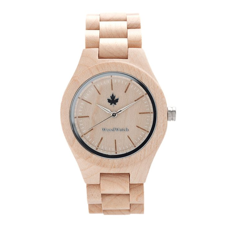 FEMME silver houten horloge zijkant