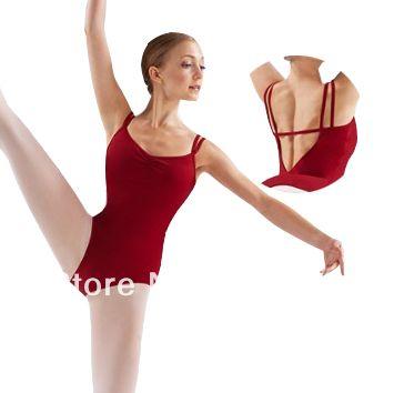 Adult Double Camisole ballet Leotard for women;Dance Leotard redCS0108 #Affiliate