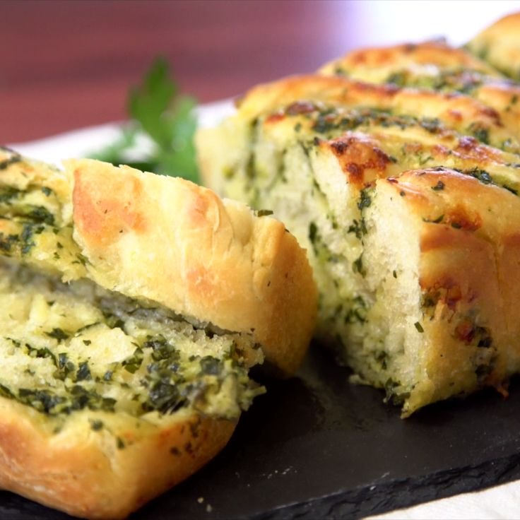 Forget the basic rolls - this braided garlic bread is just what you need at your Thanksgiving table this year. With baked in cheese and parsley, you won't even need butter and it's the perfect compliment to every bite.