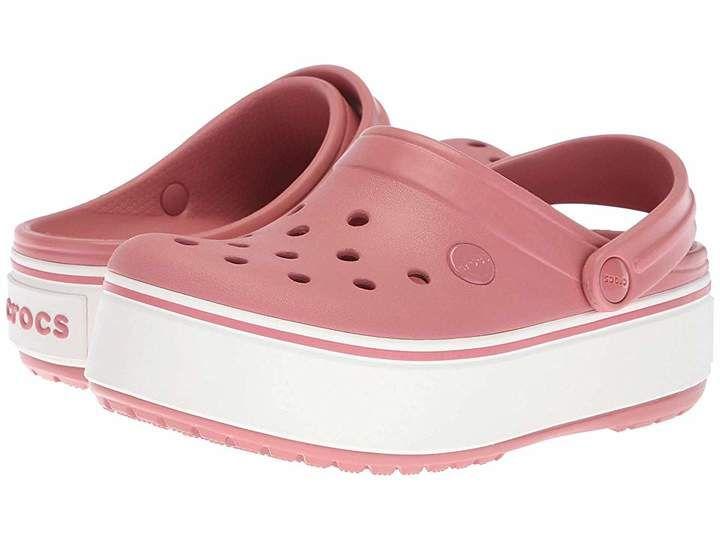 red platform crocs