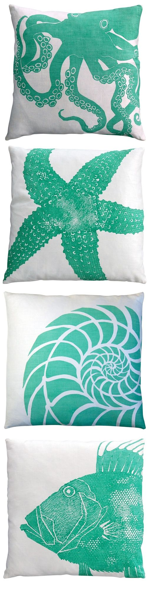 Cute Coastal Pillows by Dermond Peterson