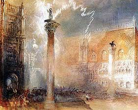 Venice A Storm in the Piazetta - Joseph Mallord William Turner, 1775-1851 - OldMastersOnline.com