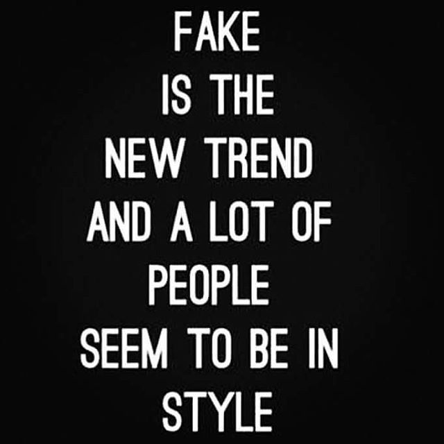 Fake: it seems to be the way of life now-a-days. Social Media has really brought the worst out in people lying. It's a dangerous game out there folks. All the fancy cars all the money all the fancy nights out 100k followers and you really look up to these people? You really are inspired by them? You really want to be like them? Why do you let them determine what you want when their life isn't even real? I know real life people that have nothing no jobs no money no respect for other. They…