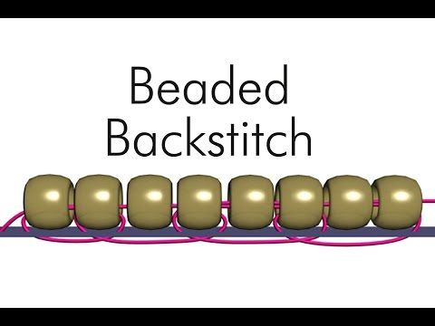Beaded Backstitch with Ann Benson - YouTube
