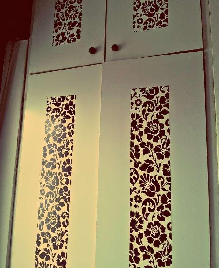 17 migliori idee su decorazione di carta da parati su - Decorare un armadio ...