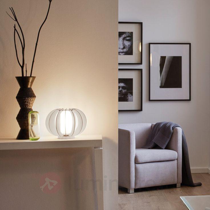 En lamelles de bois - lampe de table Stellato, référence 3031820 - Lampes et luminaires en bois  - Esprit nature à découvrir chez Luminaire.fr !
