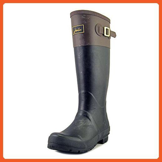 Joules Womens Cavendish Colourblock Black Saddle Rubber Boots 9 US - Boots for women (*Amazon Partner-Link)