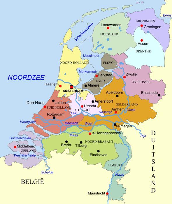 Nederland, met links naar filmpjes op schooltv beeldbank