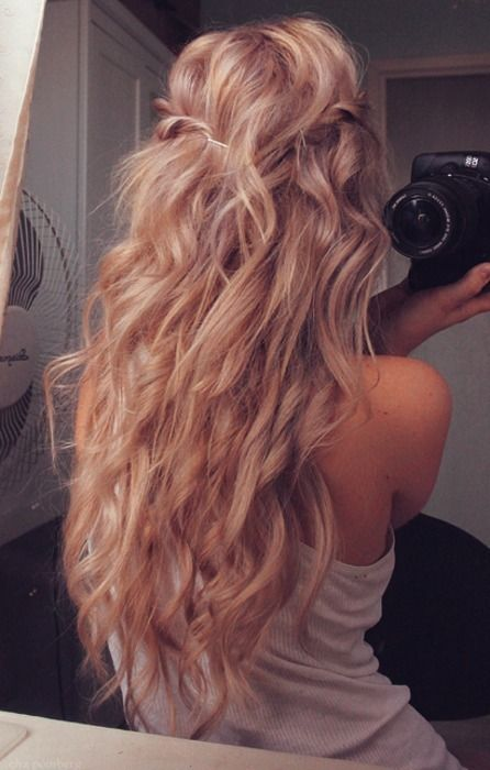 Beachy, summer hair.