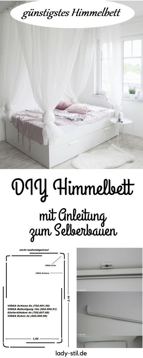 schönstes und günstigstes DIY Himmelbett – Anleitung zum Selberbauen