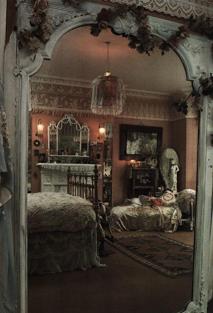 A dreamy bedchamber draped in lace. ~Splendor