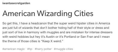 American Wizarding Cities