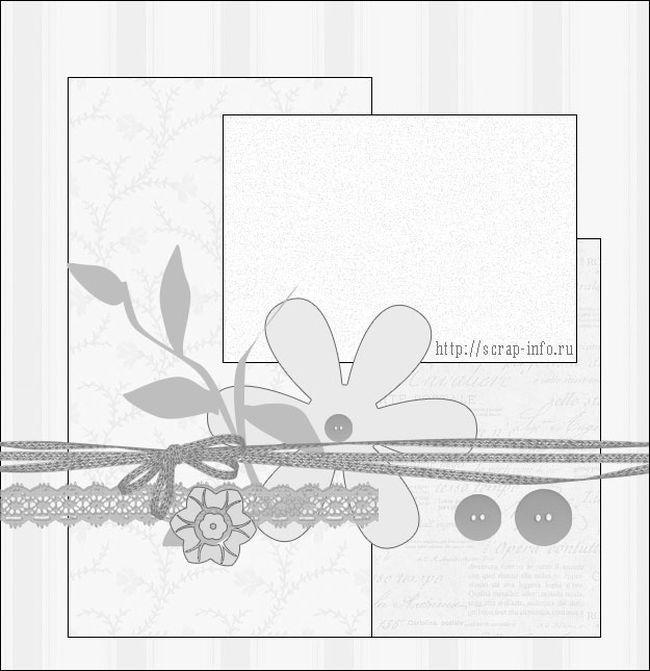 Скрапбукинг открытки с шаблонами