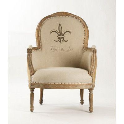 Zentique Inc. Lance Jute Fabric Arm Chair