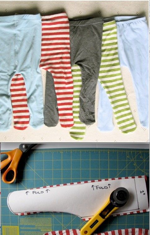 Baby tights  Tutorial: http://www.made-by-rae.com/2010/03/tutorial-by-rae-make-baby-tights/#more