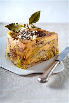 Terrine de foie gras poêlé aux cèpes