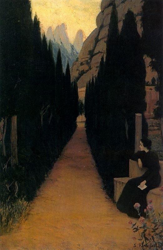 Mystic Path by Santiago Rusinol (1861-1931) ~Via Samy Odin
