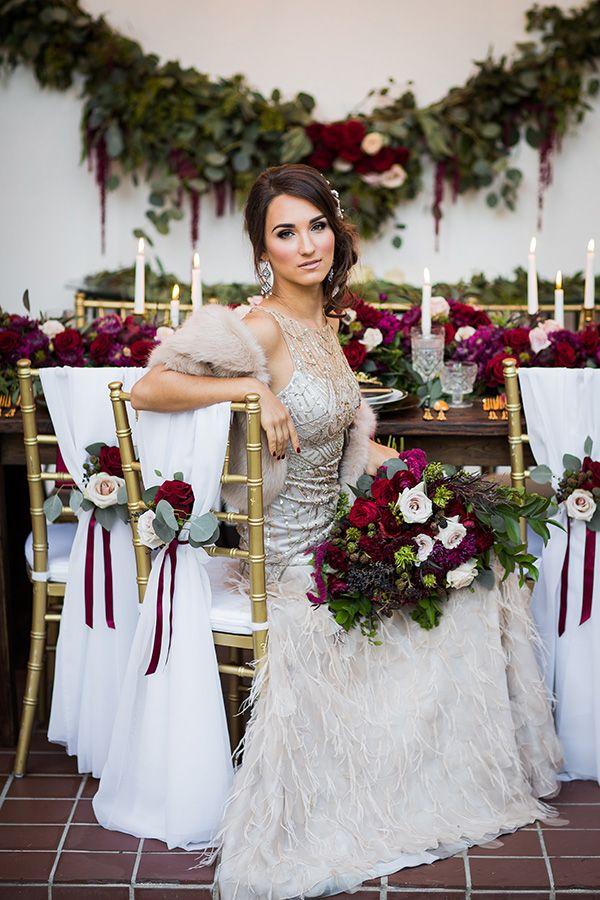Winter Vintage Wedding Glam