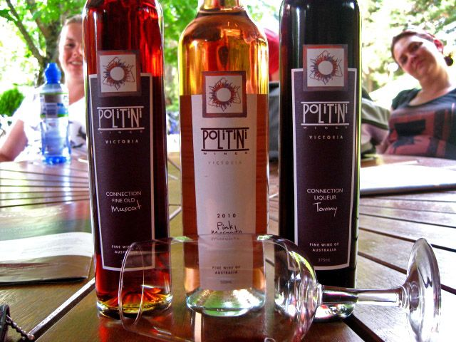 Delicious dessert wines from Politini Winery - King Valley Wine Region