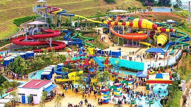 The 300,000-square-meter #Legoland #Malaysia Water Park is the block brand's largest, beating out its California and Florida counterparts.