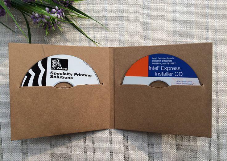 10ピースcd dvdクラフト紙スリーブカバー収納ケース封筒包装袋段ボール板紙用2ディスク