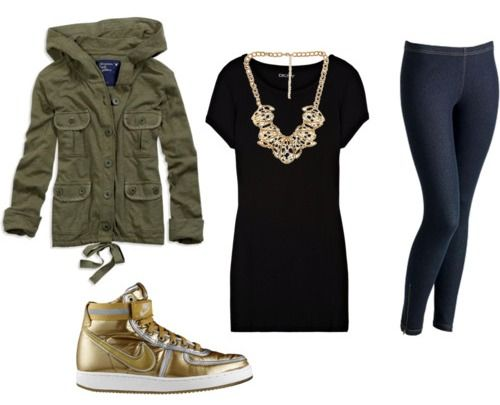 What to wear with gold high tops