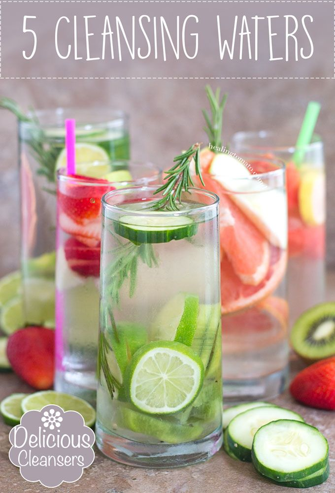 5 Cleansing Waters that will help you keep your New Year's Resolution. Drinking water will never be boring! | Fitness Inspiration, Stay hydrated, drink water,  #cleansers #drinking #water #healthy #detox #vegan #hydration #fitness #inspiration