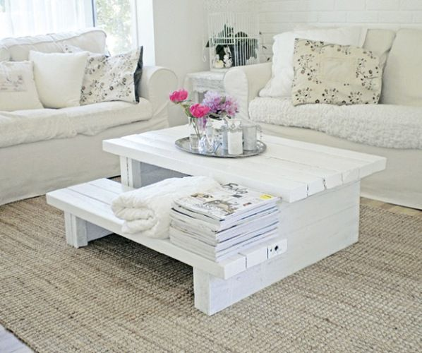 Shabby coffee table from pallets - who knew