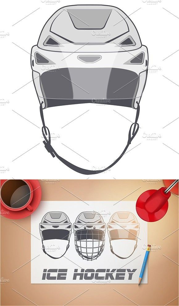 Sketches Of Ice Hockey Helmets Hockey Helmets Ice Hockey Hockey