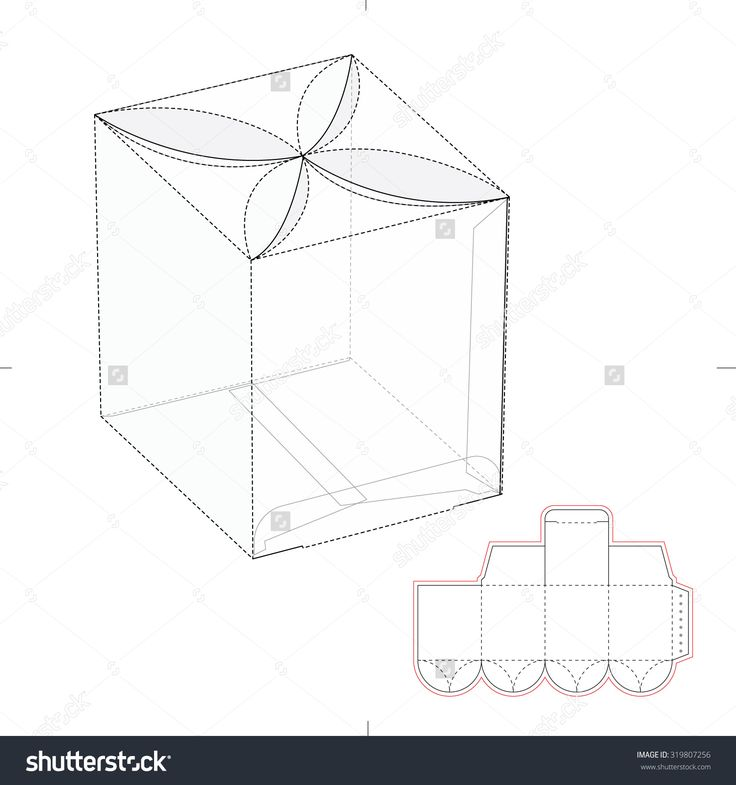 Custom Candy Top Box With Die Line Template Stock Vector Illustration 319807256 : Shutterstock