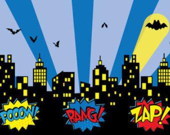 Superhero Party, SuperHero Birthday, Superhero Backdrop, Banner, Superhero Photo Booth Backdrop, Printable Superhero Photo Booth Backdrop